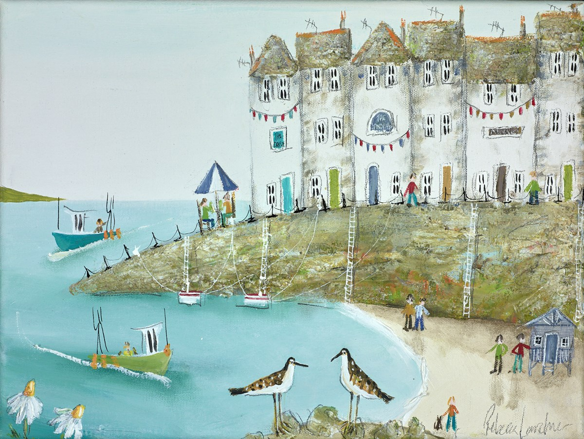 Sandpiper Summer by rebecca lardner -  sized 16x12 inches. Available from Whitewall Galleries